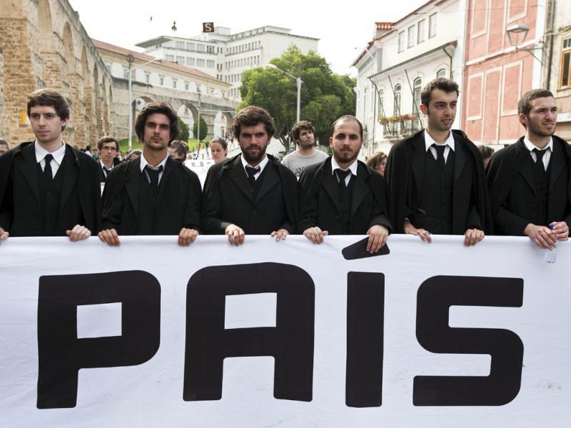 Protesto de estudantes em Coimbra (Paulo Novais/Lusa)