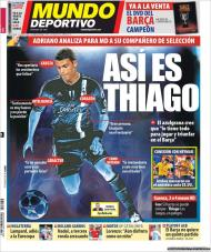 «Mundo Deportivo»: Adriano analisa Thiago Silva