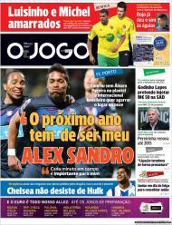 «O Jogo»: Alex Sandro quer impor-se no F.C. Porto
