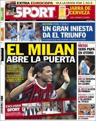 Sport: Milan abre a porta a Thiago Silva