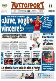 Tuttosport: Van Persie quer ir