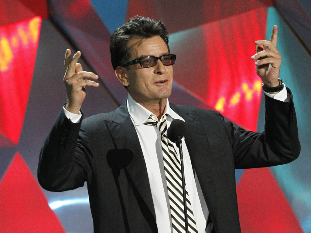 Charlie Sheen no 2012 MTV Movie Awards (foto: Reuters)