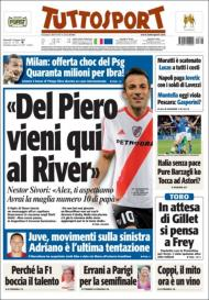Tuttosport: River quer mais um craque