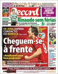 «Record»: De Jong à espera do Benfica