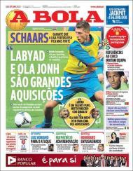 «A Bola»: Schaars fala das contratações de Sporting e Benfica