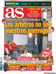 «As»: Collina falou com a seleção espanhola