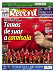 «Record»: compromisso de honra da seleção