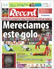 «Record»: Varela teve o empate nos pés