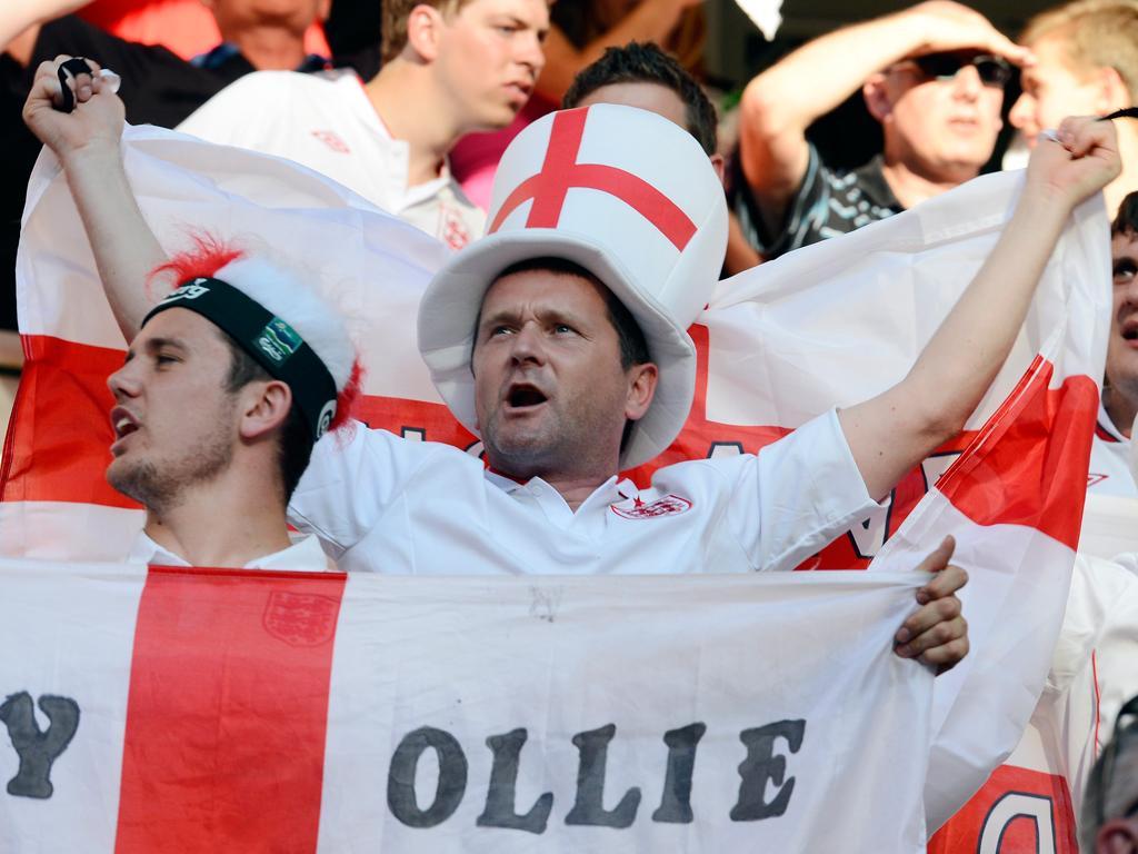 Euro 2012 - França vs Inglaterra adeptos