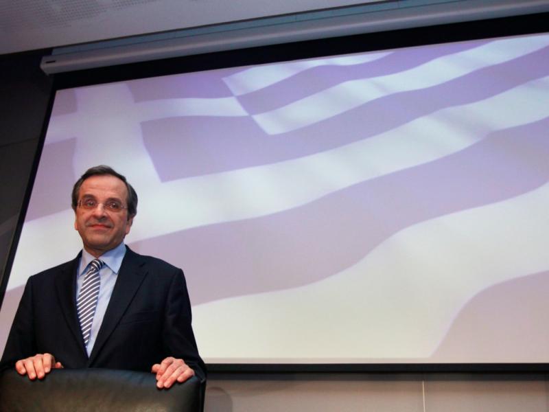 Antonis Samaras, líder da Nova Democracia [Foto: Reuters]