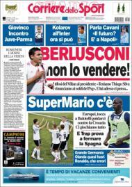 Corriere dello Sport: destaque para a seleção e venda de Thiago Silva