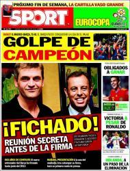 Sport: destaque para Tito Vilanova, para o Barça e para Ronaldo