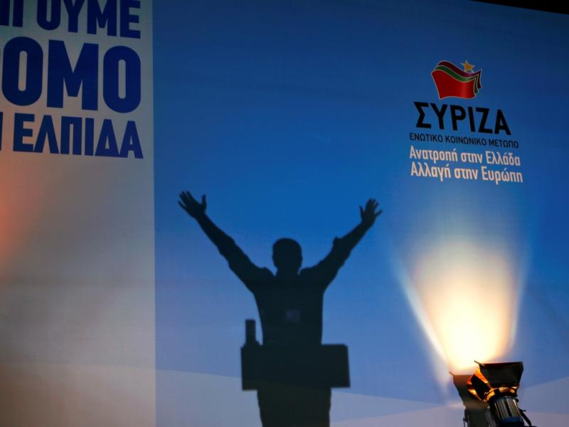 Alexis Tsipras no comício do Syriza (Reuters)