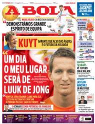 A Bola: «Um dia o meu lugar será de Luuk de Jong - Kuyt»