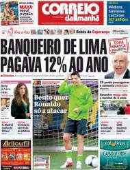 Correio da Manhã: «Bento quer Ronaldo só a atacar»