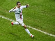 Cristiano Ronaldo, 14 remates à baliza