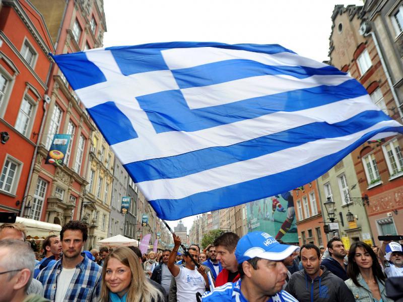 Gregos tomam de assalto a baixa de Gdansk [EPA]