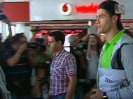 Ronaldo na chegada a Lisboa