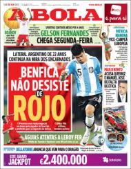 «A Bola»: Rojo na mira do Benfica