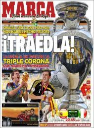 «Marca»: agradecimentos à seleção espanhola