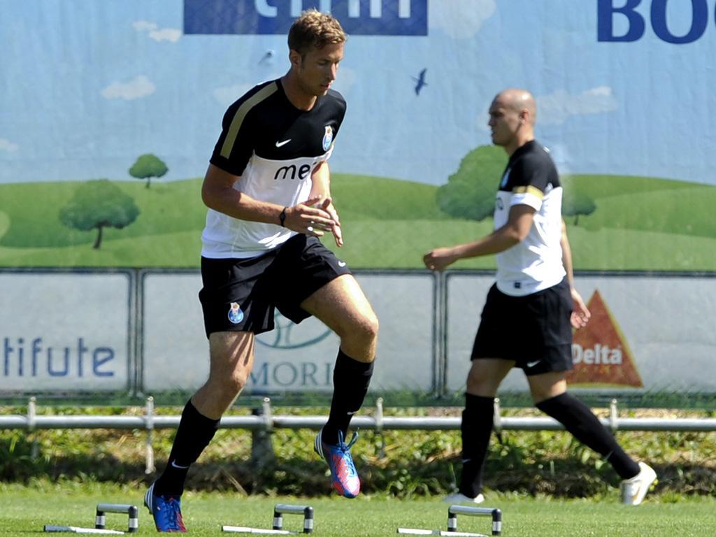 Janko no primeiro treino da época do F.C. Porto