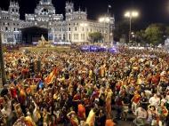 Euro 2012: Adeptos festejam a vitória da seleção espanhola (LUSA/ VICTOR LERENA)