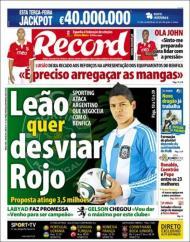 Quiosque: «Leão quer desviar Rojo» (Record)