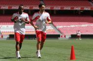 Benfica: Yartey e Hugo Vieira já trabalham