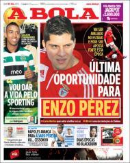 Quiosque: «Última oportunidade para Enzo Pérez» (A Bola)