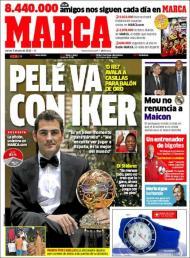 Marca: Pelé vota em Casillas