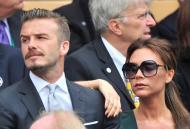 David e Victoria Beckham assistem a final de Wimbledon Foto: Reuters