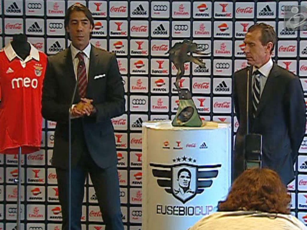 Rui Costa e Emilio Butragueño apresentaram Eusébio Cup