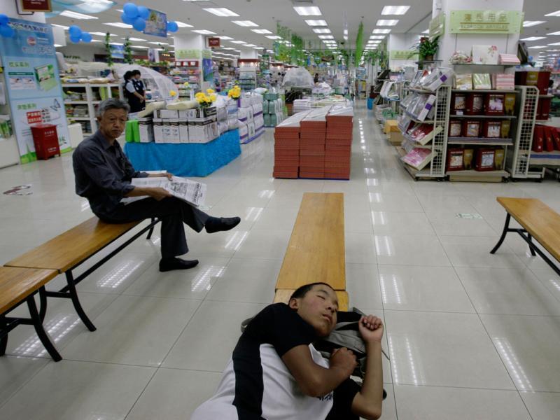 Uma sesta à chinesa