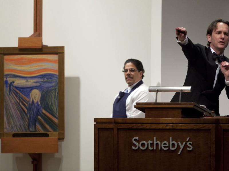 «O Grito» leiloado na Sothebys