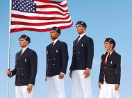 Os uniformes olímpicos dos Estados Unidos, made in China