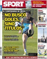«Sport»: as «promessas» e ambições de Messi