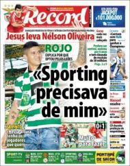 «Record»: Rojo apresentado no Sporting