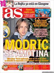 «As»: Modric força saída do Tottenham