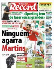 «Record»: Martins «mostra a Jesus vontade de ser titular»