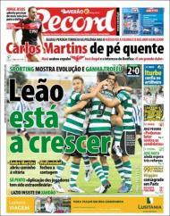 «Record»: Leões ganham troféu