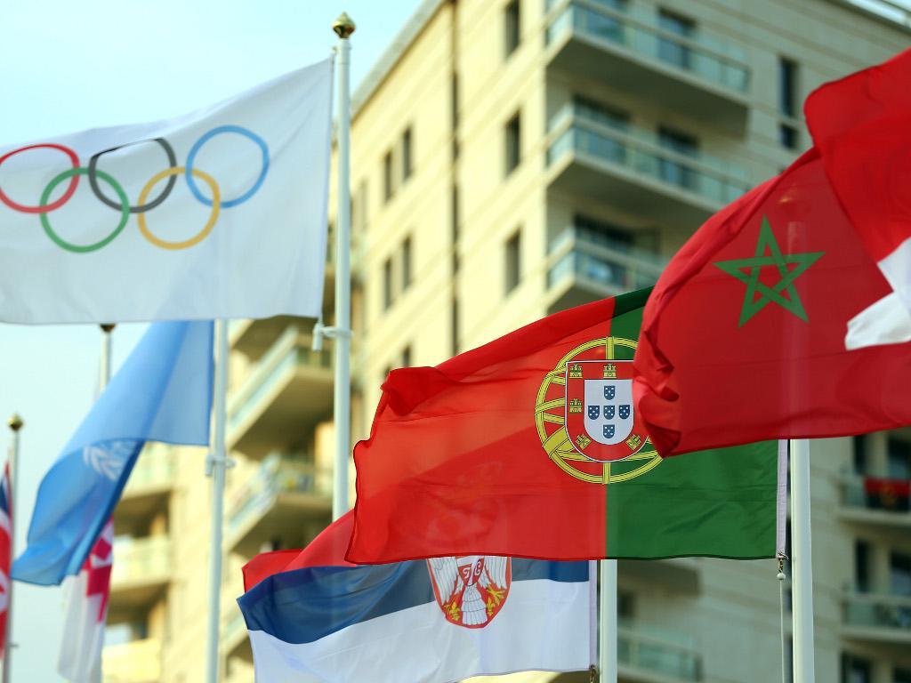 Bandeira portuguesa hasteada na Aldeia Olímpica [Lusa]