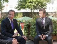 David Beckham com David Cameron em Downing Street Foto: Reuters