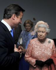 David Cameron e Rainha Isabel II - Abertura dos Jogos Olímpicos de Londres 2012 Foto: Reuters