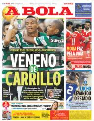 «A Bola»: Carrillo bisou frente ao St. Etienne