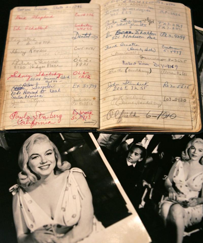 Leilão de objetos de Marilyn Monroe