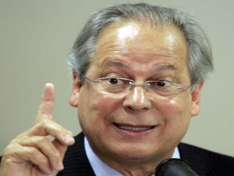 José Dirceu em conferência de imprensa [Reuters]