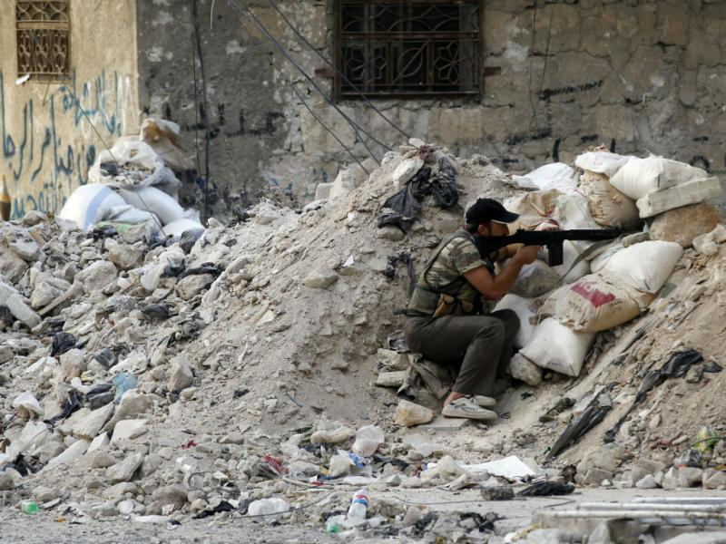 Combates em Aleppo, Síria (Goran Tomasevic/Reuters)