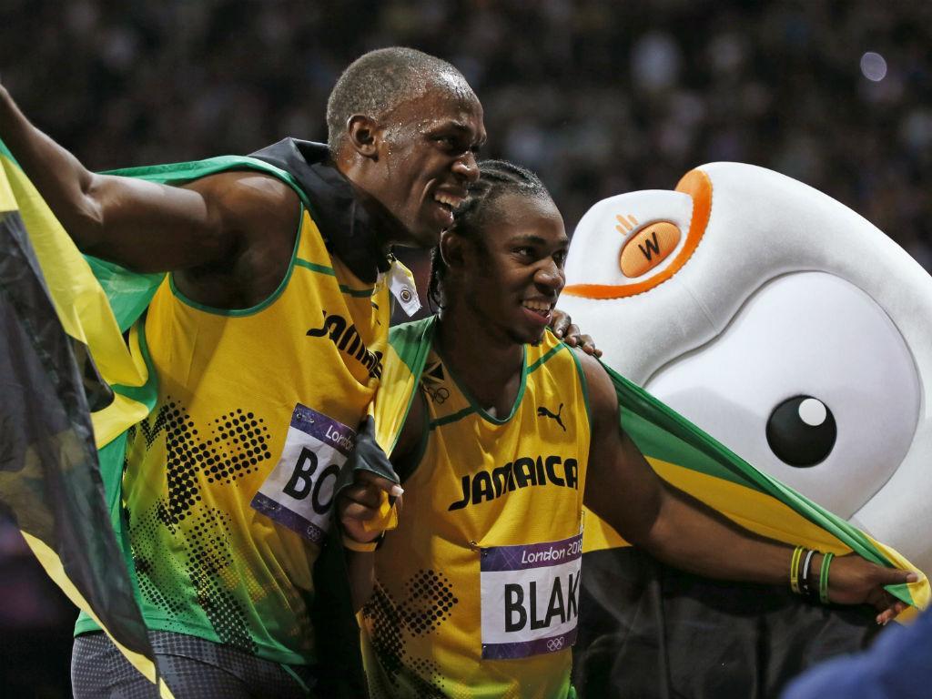 Bolt e Blake: festa na Jamaica!