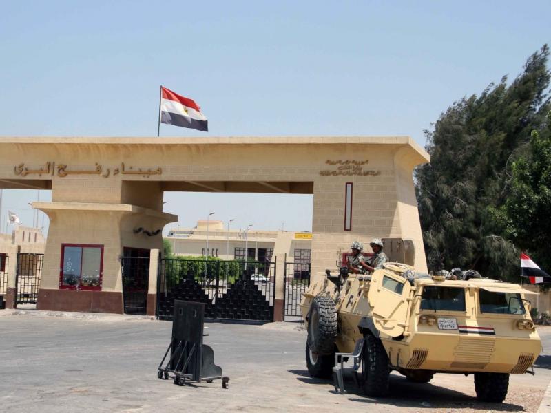 Fronteira de Rafah, entre o Egito e Gaza (EPA/AHMED KHALED)