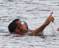 Fernando Pimenta e Emanuel Silva conquistaram hoje a medalha de prata na prova de K2 1.000 metros Foto: Reuters